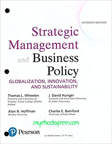 Strategic Management and Business Policy Pdf Download