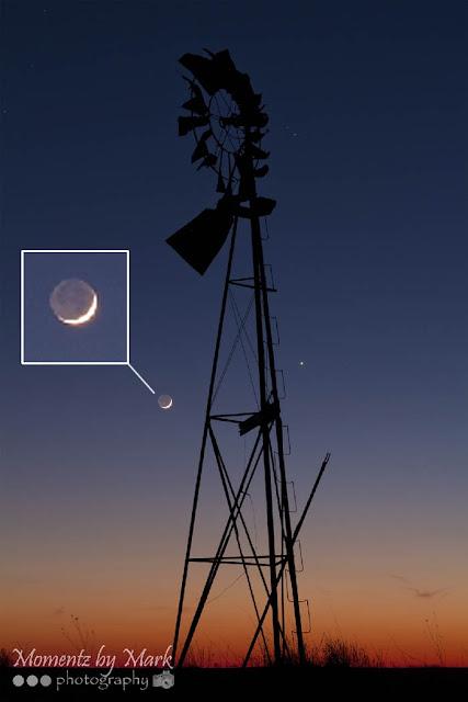 Venus e Lua em 17 de abril de 2018 - Mark A. Brown