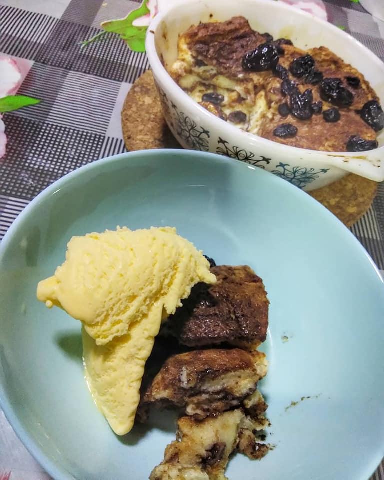 life  loves puding roti air fryer Resepi Puding Roti Air Fryer Enak dan Mudah