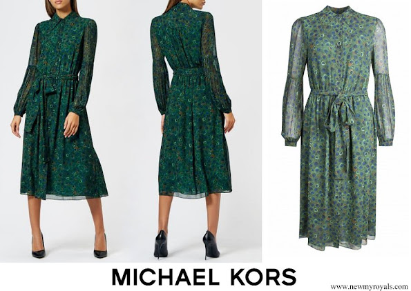Kate Middleton wore Michael Kors Women's Midi Dress