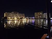 Disney World Contemporary Hotel at night