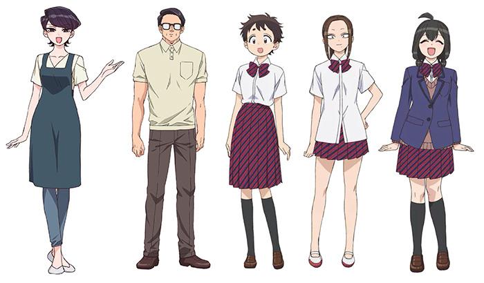 Komi-san no puede comunicarse (Komi-san wa Komyushou Desu) anime - personajes