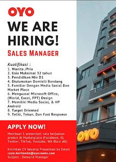 Info Lowongan Kerja Sales Marketing OYO
