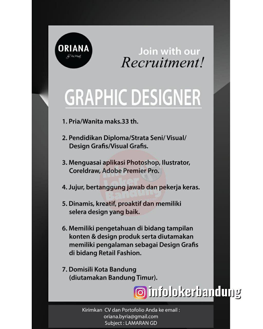 Lowongan Kerja Graphic Designer Oriana Bandung Juli 2019