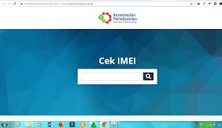 Situs Cek IMEI Kemenperin