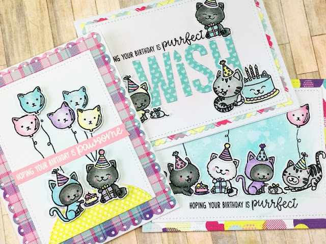 Sunny Studio Stamps: Purrfect Birthday Customer Card Share by Scrapbena Creations