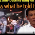 WATCH: Statement of President Duterte on the upcoming rally against him