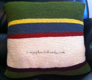Dr Who Scarf Inspired Cushion Cover - Side 1