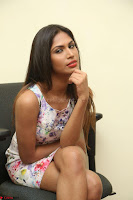 Nishi Ganda stunning cute in Flower Print short dress at Tick Tack Movie Press Meet March 2017 126.JPG