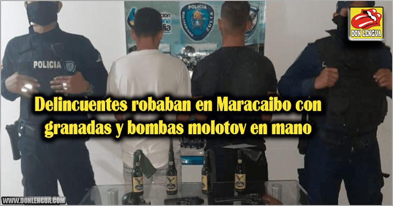 Delincuentes robaban en Maracaibo con granadas y bombas molotov en mano