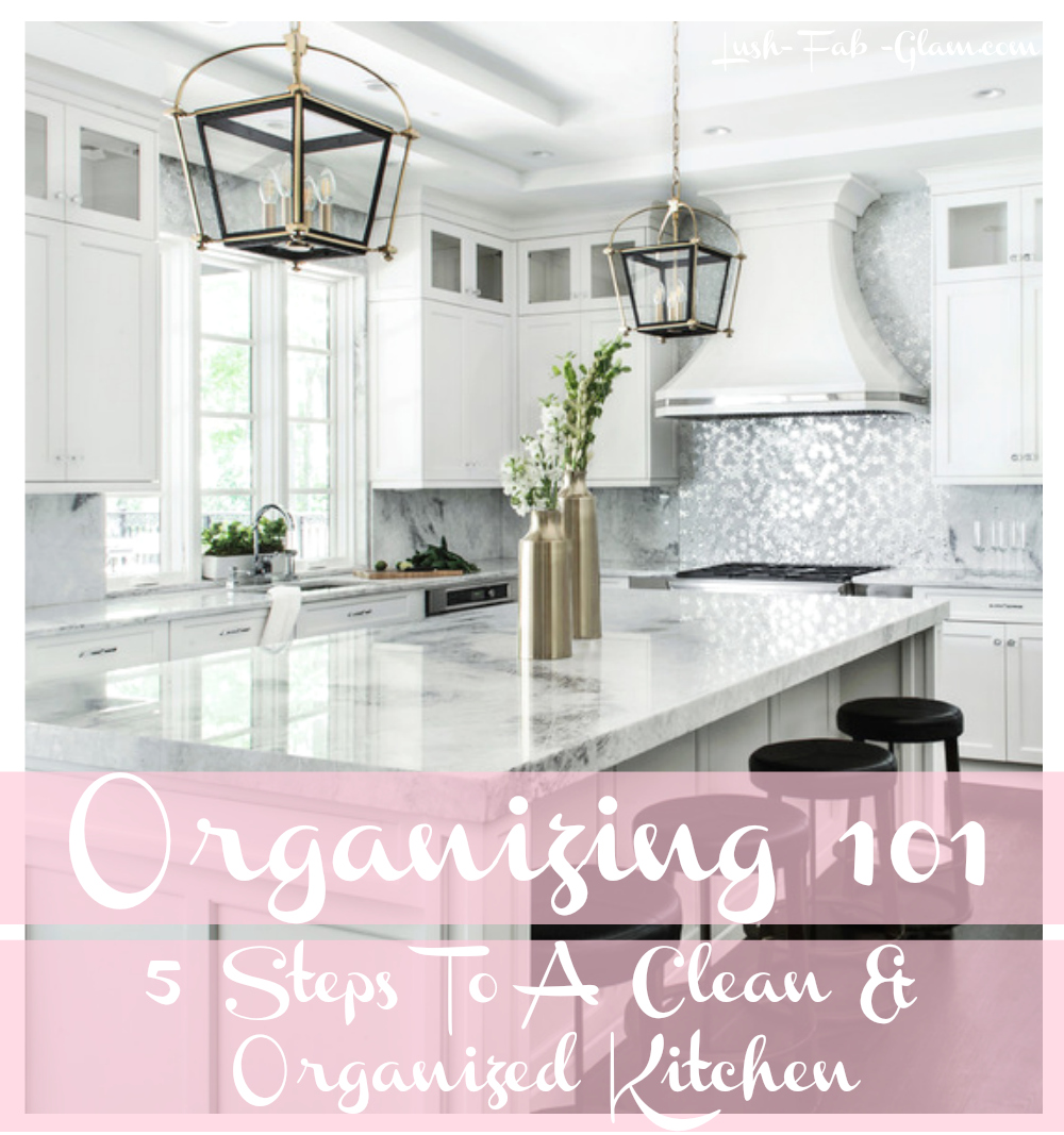 Give your home a mini makeover with our 5 Steps To A Clean and Organized Kitchen.
