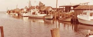 """Manns Harbor fish docks where the """"Secotan"""" docked."""