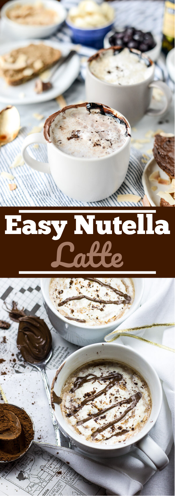 Nutella Latte #drinks #latte #hot #beverages #coffee