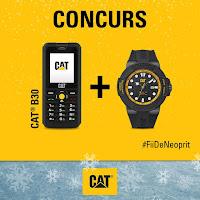 Castiga un telefon CAT B30 si un ceas CAT rezistent la apa