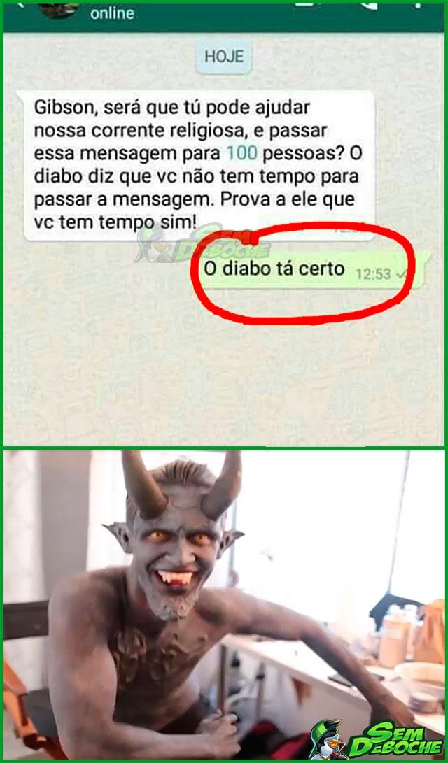 O DIABO TÁ CERTO