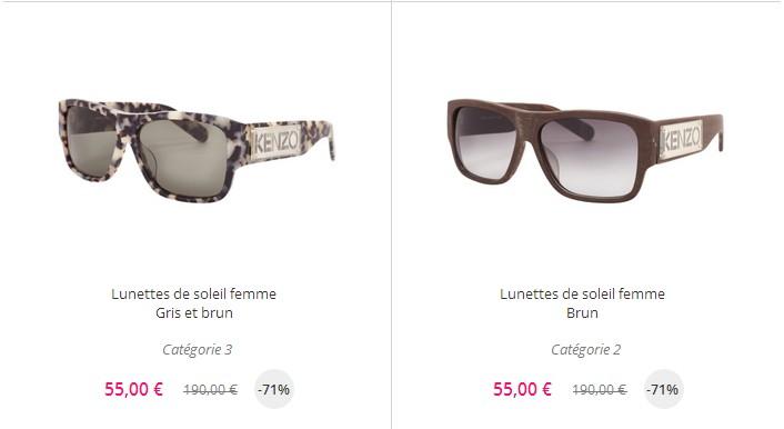 7455dc4f741bf8 ... rond, diamant, triangle)...la mode est un éternel recommencement. Notez  que les lunettes de soleil Kenzo sont très rares dans ce type de ventes.