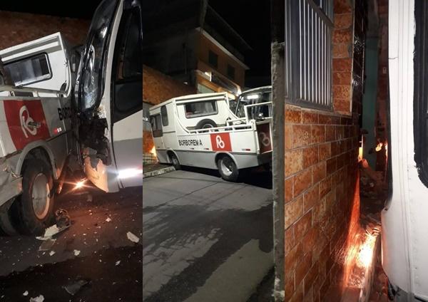 Reboque e ônibus da Borborema se envolvem em acidente na rua da matriz em Escada