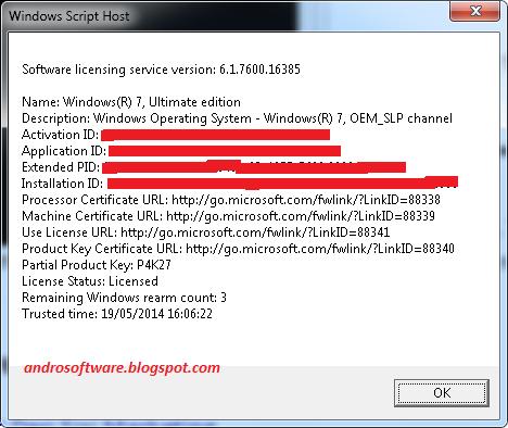 gambar detail lisensi windows 7 dengan cmd