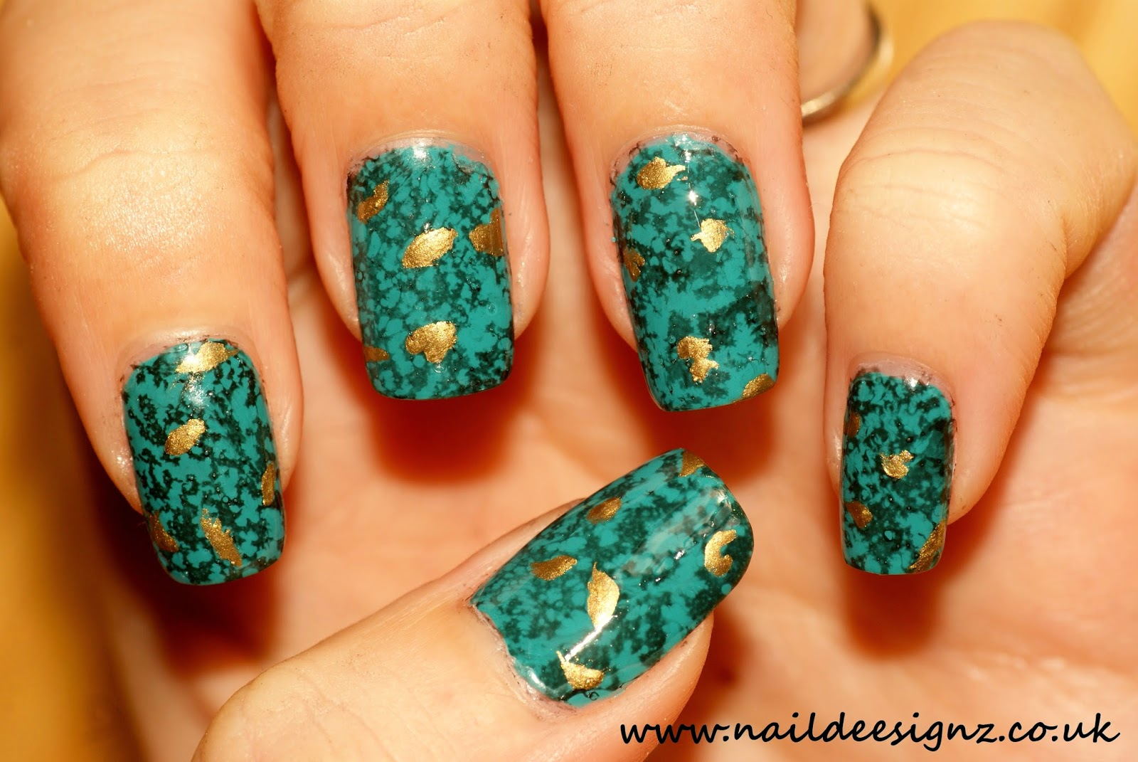 NailDeesignz: Turquoise Stone Nail Art