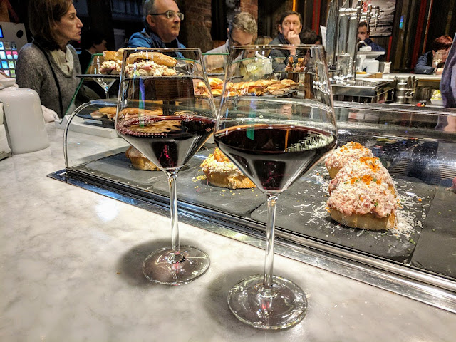 Things to do in Bilbao in winter: drink Spanish red wine at La Roca