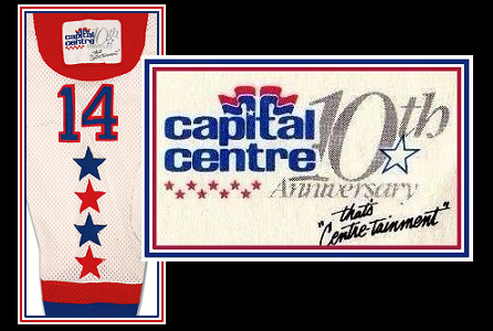 An '83-'84 patch noted the Centre's 10th anniversary.