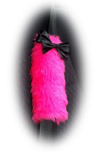 barbie pink with black bows pad straps