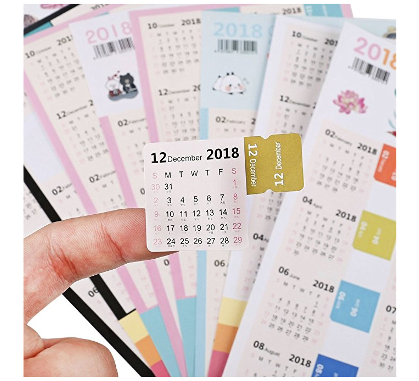 monthly tab calendar stickers