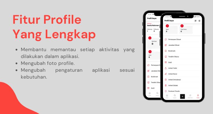 Fitur Profile yang lengkap