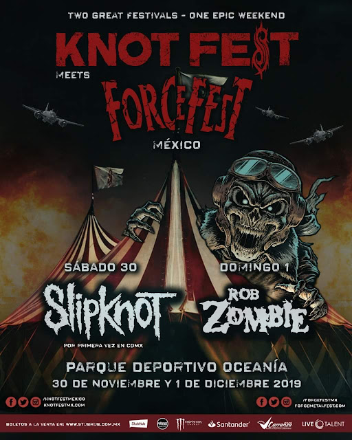 Slipknot y Rob Zombie confirmados en Knot Fest Meets Force fest