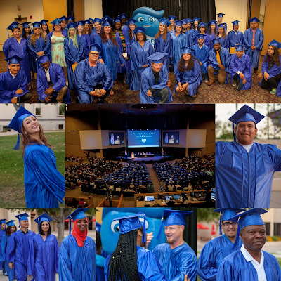 Collage of images from may 17 HSE grad ceremony.