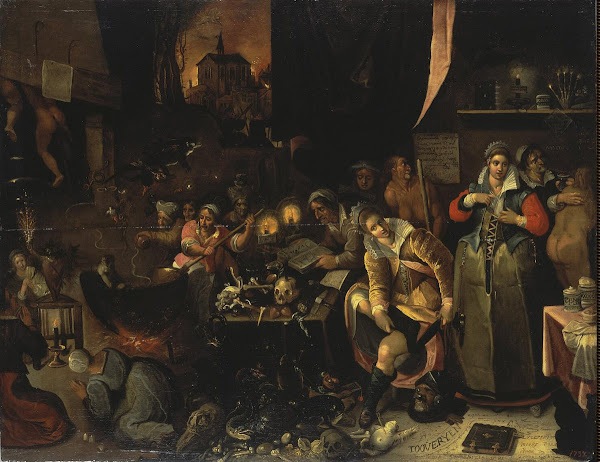 Witches kitchen by Francken Frans, Macabre Art, Macabre Paintings, Horror Paintings, Freak Art, Freak Paintings, Horror Picture, Terror Pictures