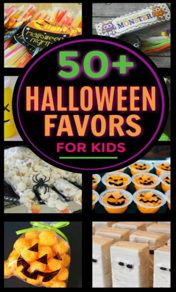 30+ Halloween treats and favors for kids that AREN'T CANDY! #halloweenpartyideas #halloweenpartyfavors #noncandyhalloweentreats #growingajeweledrose #kidshalloweenparty