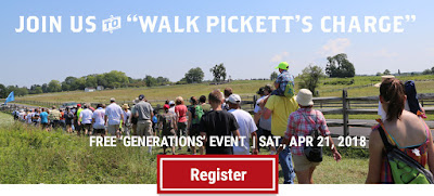 Walk Pickett's Charge! Register Today for our April 21 Generations Event