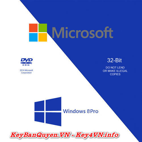 Mua bán key bản quyền Windows 8 Pro Full 32 và 64 Bit .