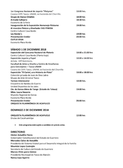eventos de la Feria nacional de la plata 2018