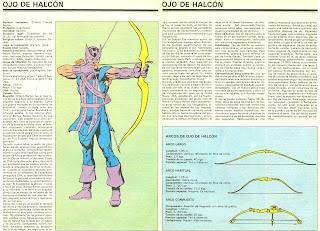 Ojo de Halcon Ficha Superheroes