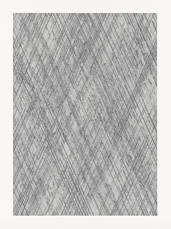 Alexandra Roozen Italics #05, 2019 pencil on paper 160 x 120 x 0,5 cm