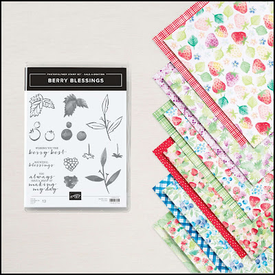Beautiful 5-minute cards with the Stampin' Up! Berry Blessings bundle.