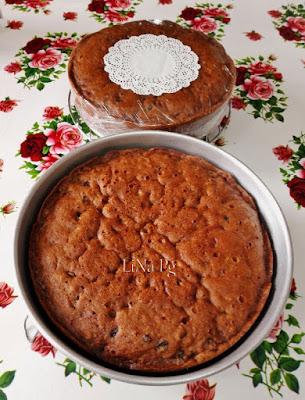 kek buah lina pg, kek buah lembab, kek buah moist, kek buah kukus 4 jam