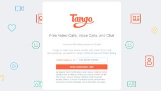 طلب التحقق من رقم الهاتف عبر تطبيق تانجو للكمبيوتر