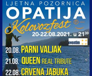 """KOLOVOZFEST"" - OPATIJA- LJETNA POZORNICA | 20.08.- 22.08.2021. u 21:30h"