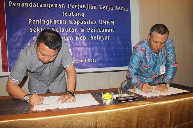 Pemkab Kep.Selayar Dan Bank, Indonesia, Teken ,MoU, Peningkatan, UMKM, Sektor ,Perikanan