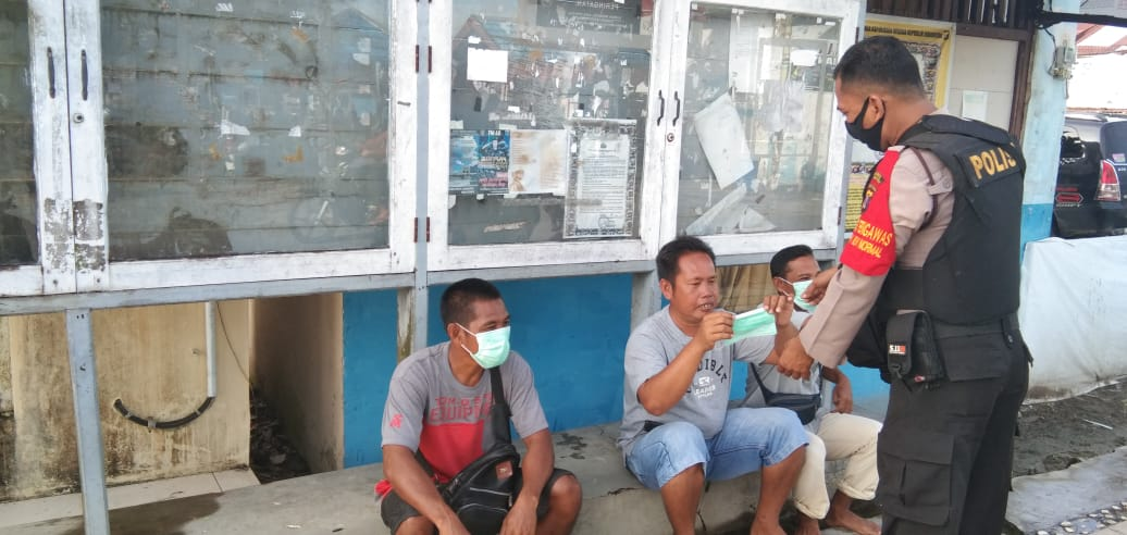 Terapkan Protokol Kesehatan, Polres Sukamara Siagakan Petugas Pengawasan Serta Penerapan New Normal