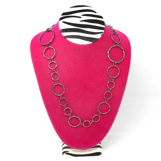 #ND-1892V-ZP Pink Zebra Print Large Necklace Display Bust