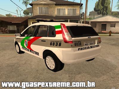 Ford Fiesta Rocam 2012 PMSC para GTA San Andreas