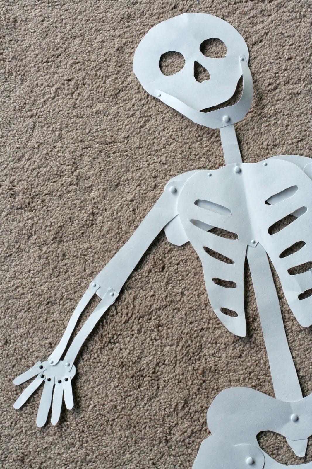 diy halloween decoration: life-sized skeleton