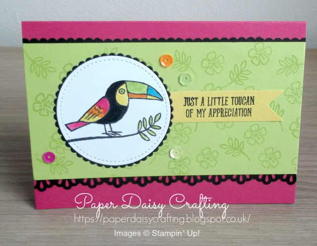 Thank you card with Bird Banter from Stampin' Up!