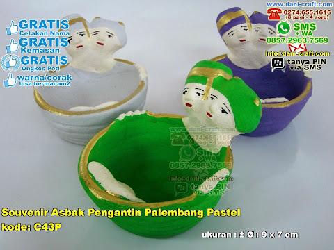 Souvenir Asbak Pengantin Palembang Pastel