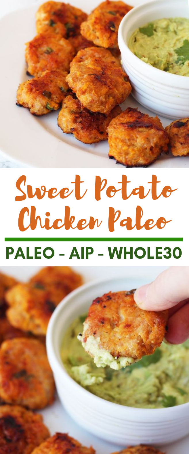 Sweet Potato Chicken Poppers (Paleo, AIP & Whole 30) #Paleo #Potato