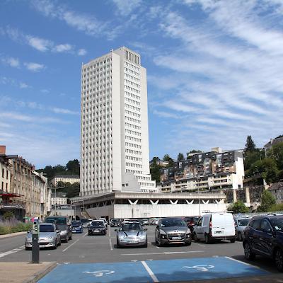 'Cité administrative Jean Montalat' complete with podium and pedestrian bridges.